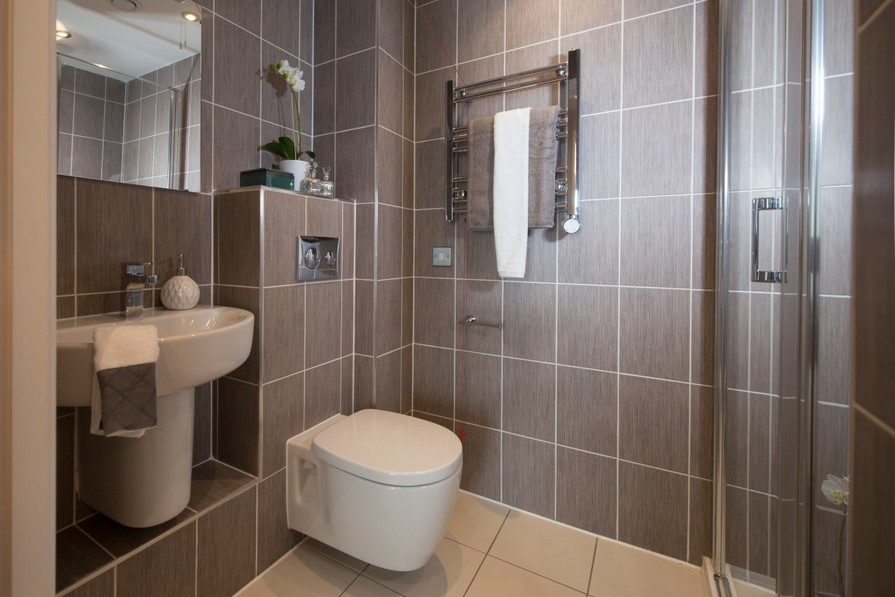 Sanderson Court, Three Bedroom Show Apartment Shower Room
