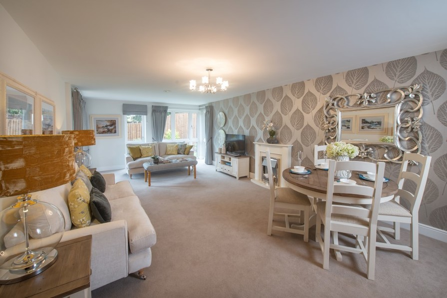 Sanderson Court, Two Bedroom Show Apartment Lounge