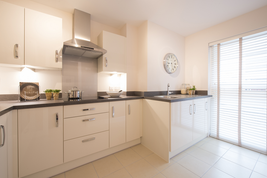 Typical kitchen in a 2 bedroom apartment