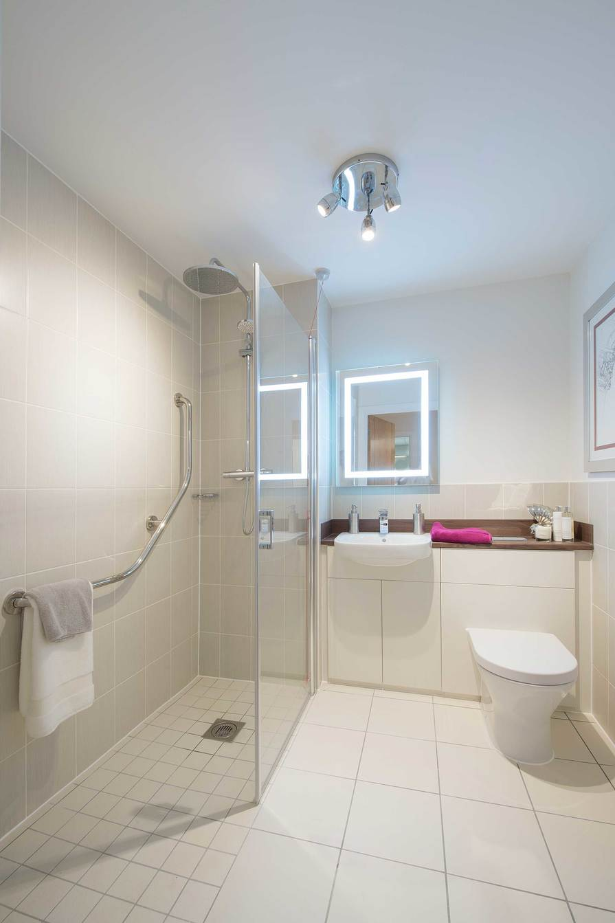 Typical Bathroom in a 1 bedroom apartment