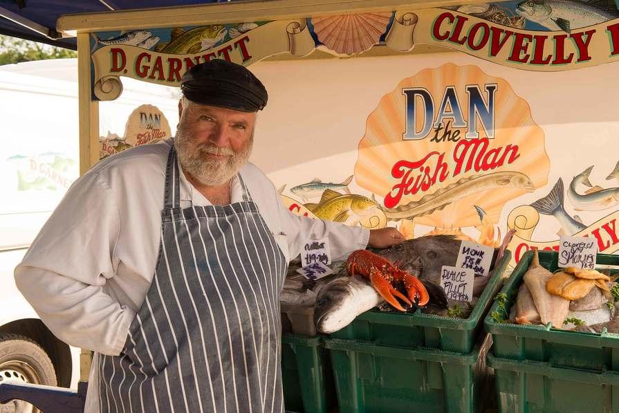 Fishmonger in South Molton Pannier Market