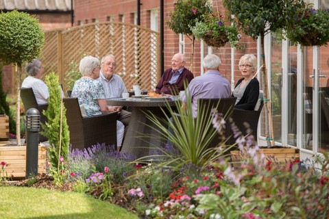 Residents enjoying the gardens
