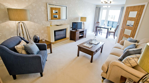 Typical 2 bedroom apartment, Tantallon Court