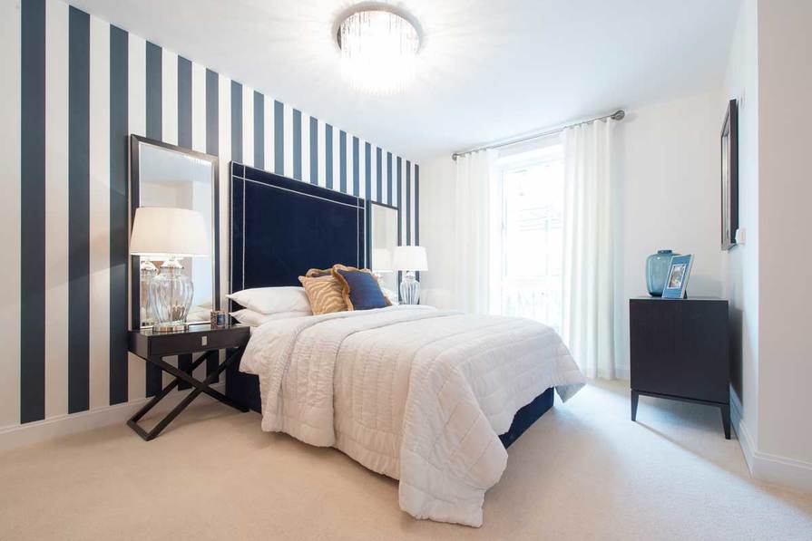 Typical master bedroom in a 2 bed apartment