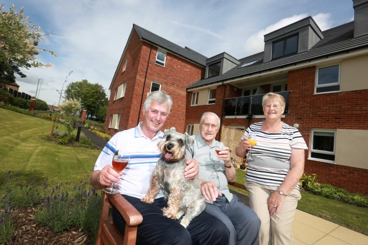 Residents at Waverley Court