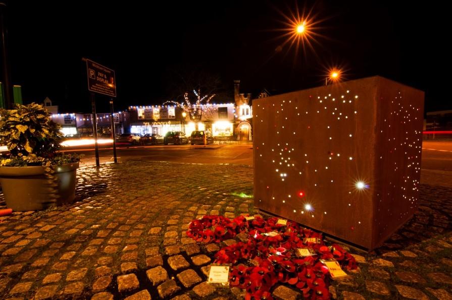 Wickham by night - Wickham Square