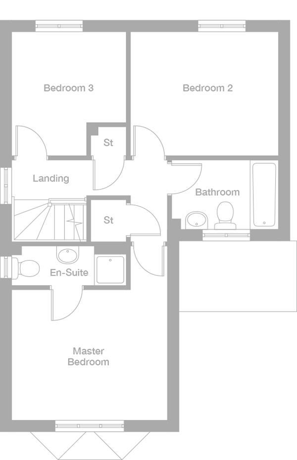 style_8071360000010_FLP_07 built by miller homes, the orwell plot 35 priced at £184,950 in,Miller Homes Floor Plans