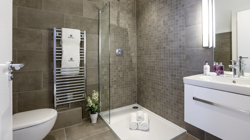 Show home room by room bentley s yard clapham for Show home bathrooms