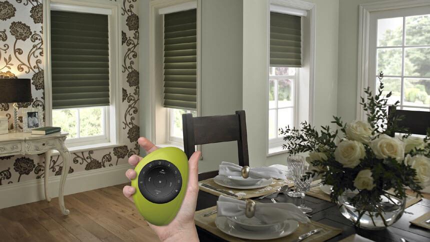 Thomas Sanderson's Duette powered blinds
