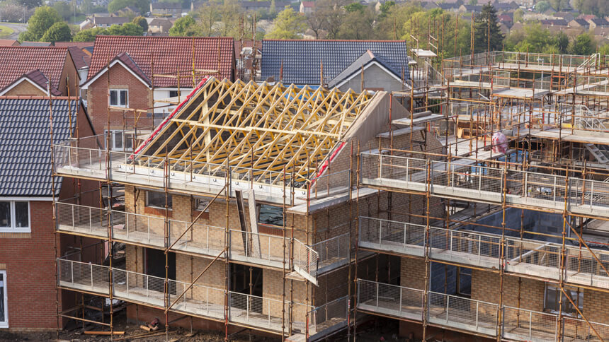 The highest amount of new homes built