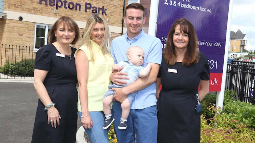 Hayley and Sean at the Taylor Wimpey development