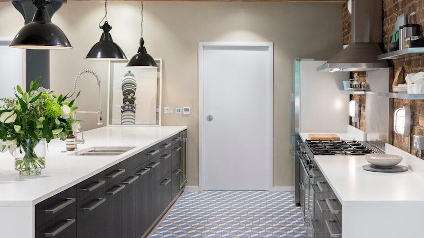 Use funky floor tiles