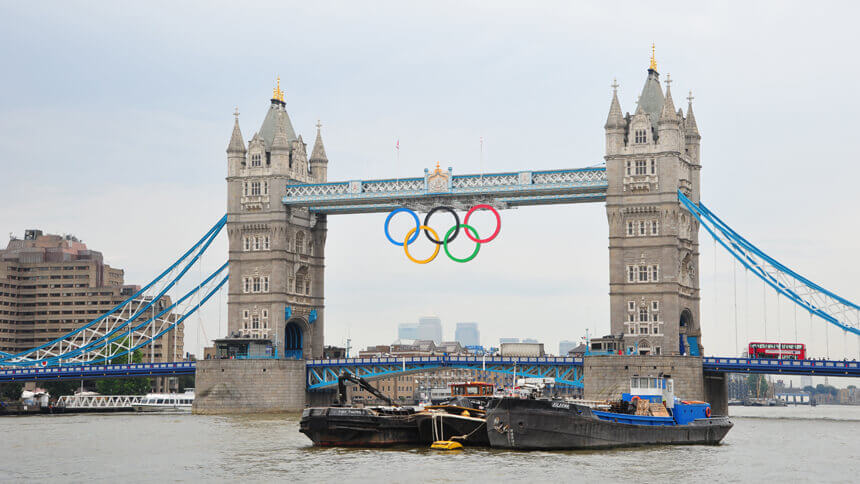 Tower Bridge during Olympics 2012