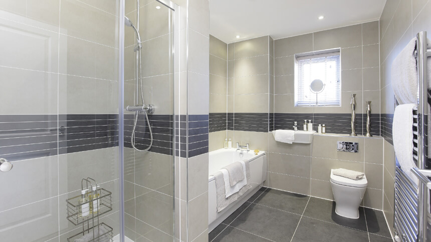 Bathroom at The Buttermere (Bellway Homes)