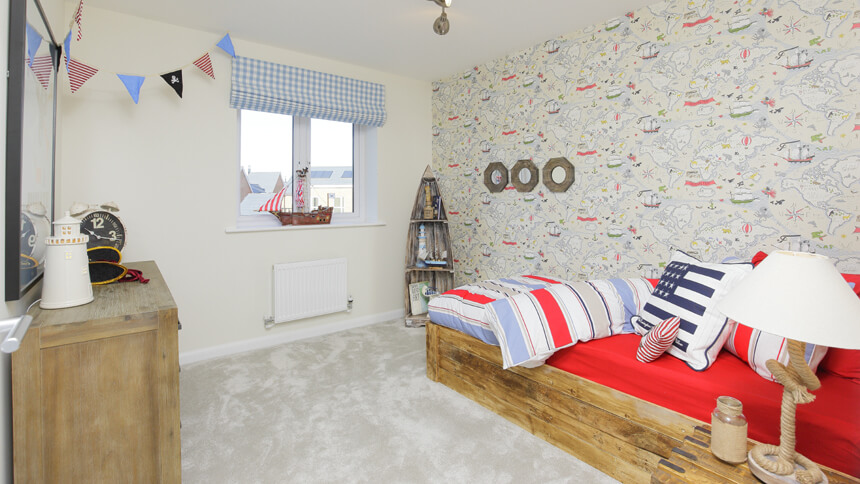 Child's bedroom at The Buttermere (Bellway Homes)