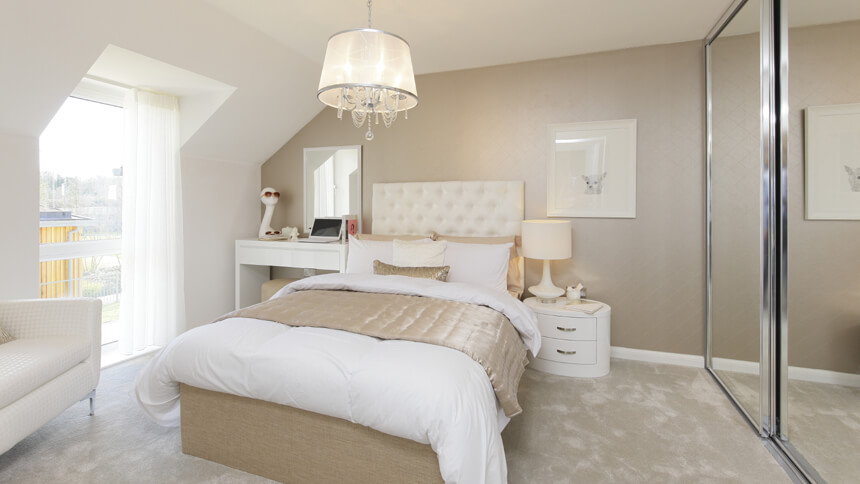 Girl's bedroom at The Buttermere (Bellway Homes)
