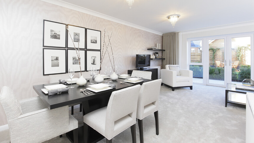 Show home room by room the buttermere greenhithe for Show home living room designs