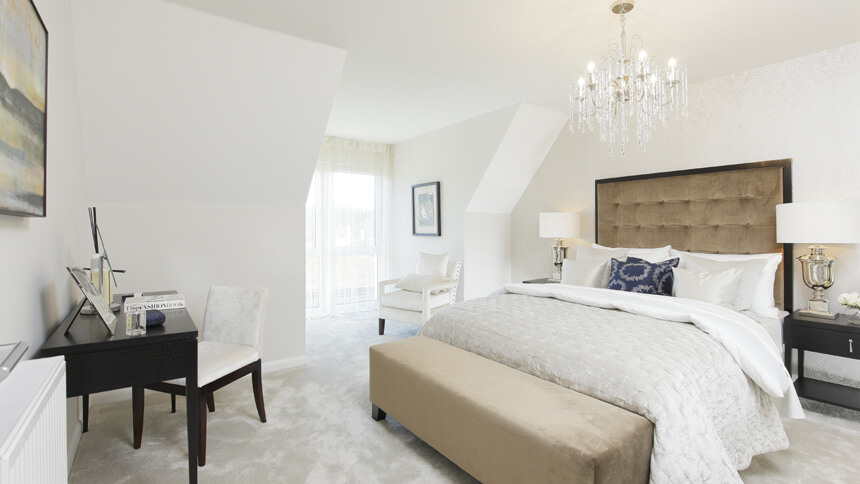 Master bedroom at The Buttermere (Bellway Homes)
