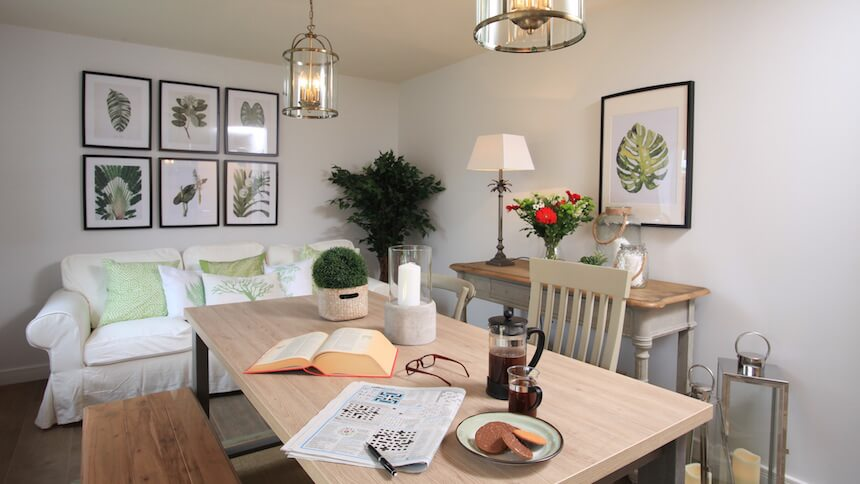 The Brampton dining room
