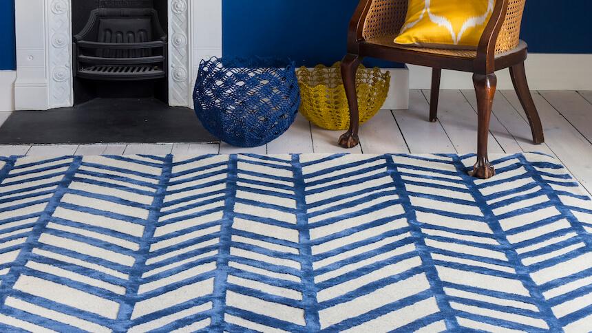 Jennifer Manners Modern Herringbone rug