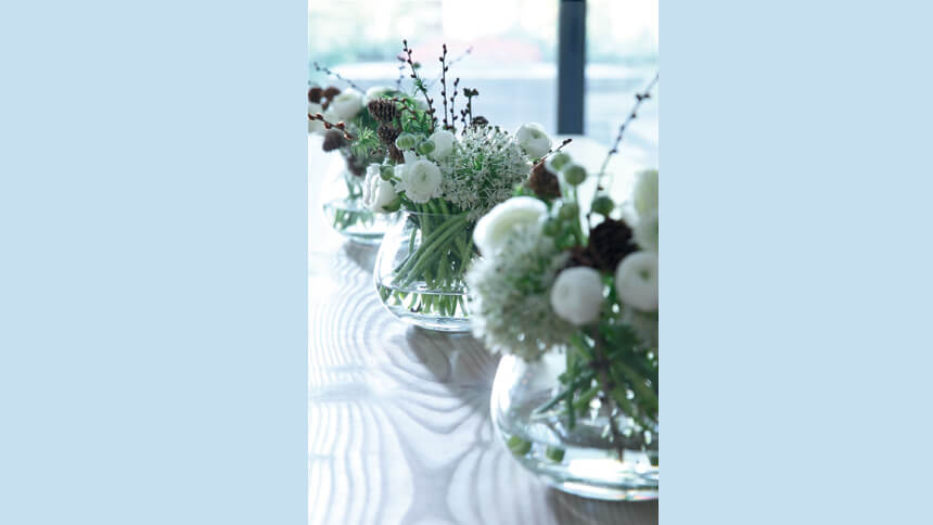 Table arrangement vase from Annabel James