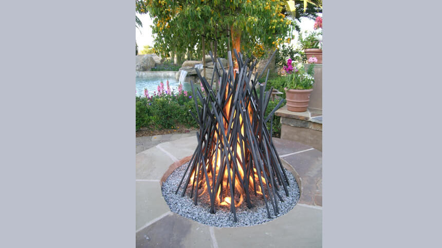 Wigwam fire pit from bd-designs.co.uk