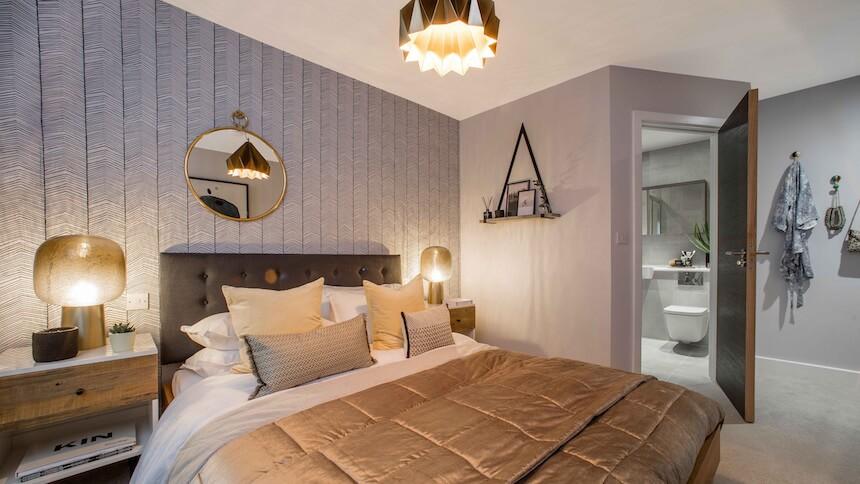 Master bedroom at Prime Place, Sevenoaks
