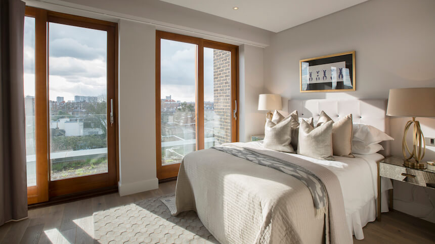 15 Grove End Road penthouse bedroom