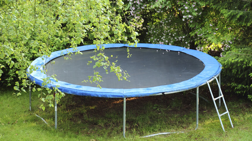 Trampolines are seen as unacceptable
