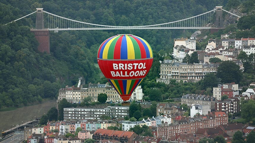 View towards Clifton Suspension Bridge, Bristol
