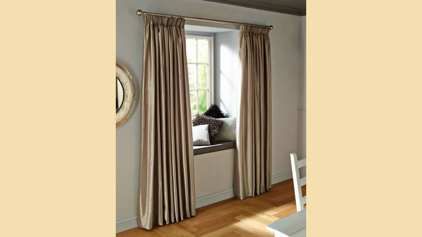 Metallic curtains, B&Q