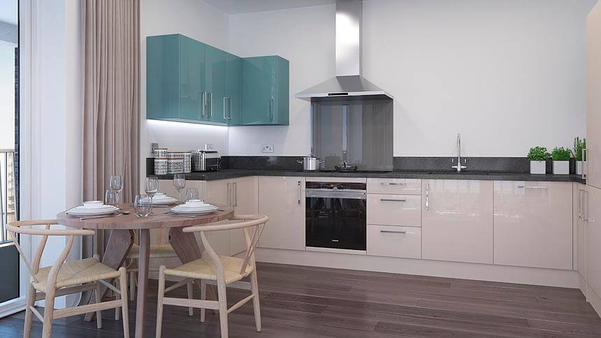 Premium kitchen at Royal Albert Wharf