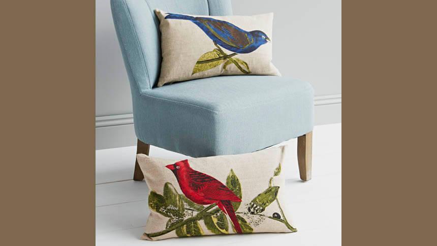 Birds of paradise cushions