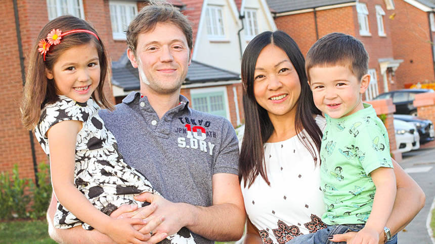 The Williams family at Redrow's Regent's Grange
