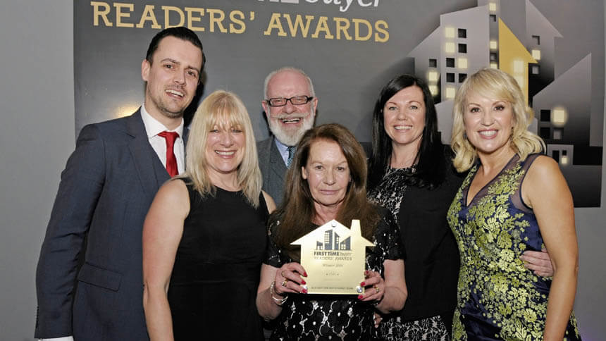 The Lovell team at the First Time Buyer awards