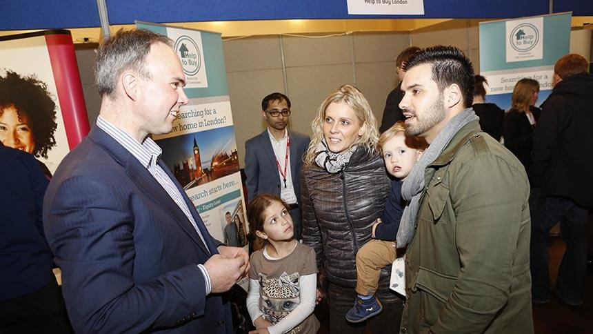 Gavin Barwell (left) at the First Time Buyer Show