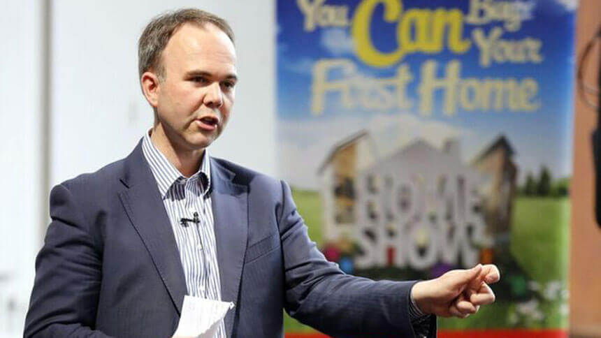 Gavin Barwell at April's First Time Buyer Show
