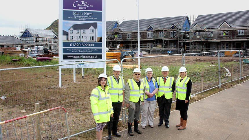 The Cruden Homes team at Mains Farm