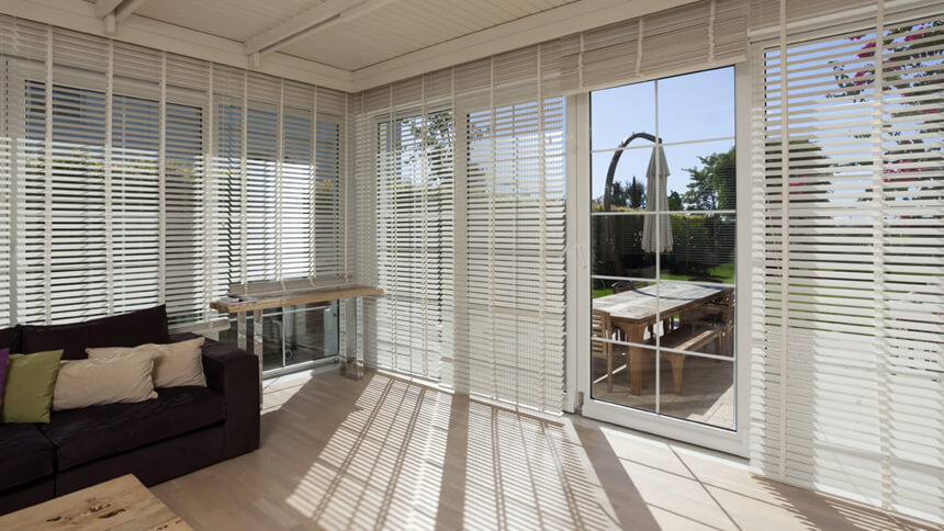 Window blinds can change the look of a whole room