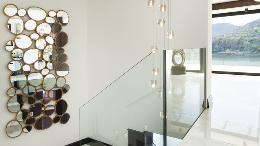 Mirrors can help to enhance the space