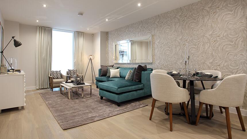 Charters Wharf living room