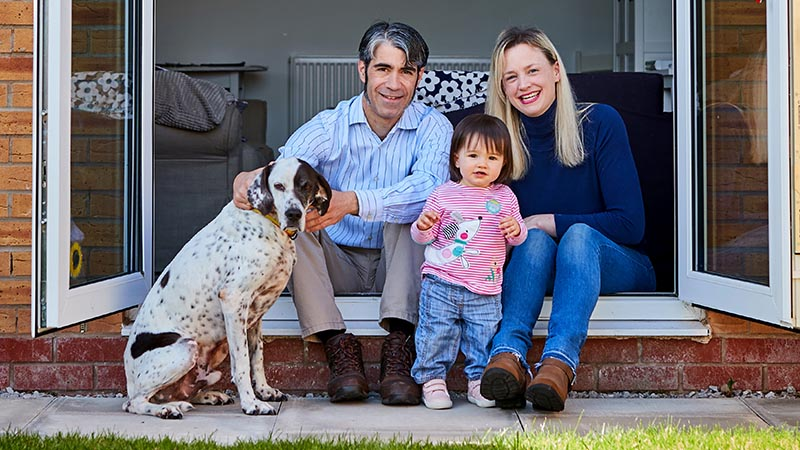 Susan, Alvaro, daughter Ariadna - and Favio