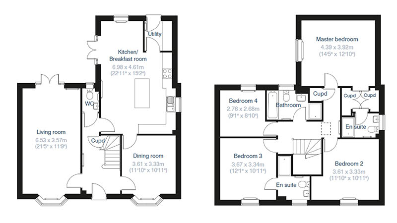 'The Whittlebury' floorplan, The Farriers