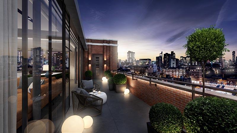 Islington Square penthouse