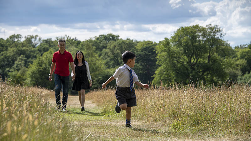 Tao Liu and family in Trent Park
