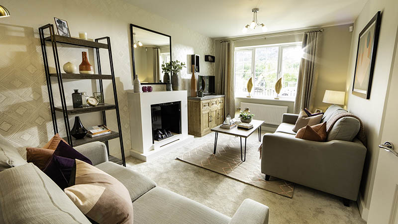 Show home at Ymyl Yr Afon (Lovell Homes)