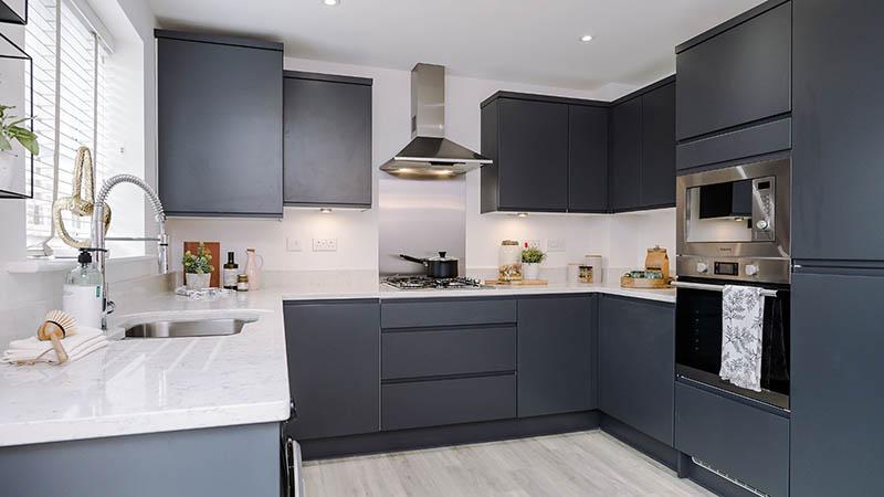 A typical Elan Homes kitchen