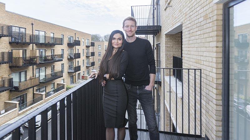 Irina and Anton at home at Trinity Walk