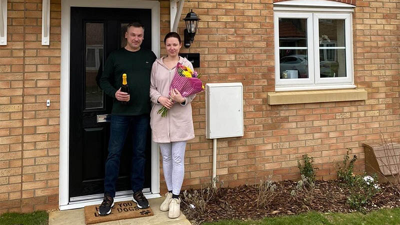Vitalijus and Kristina at home at Oakley Rise