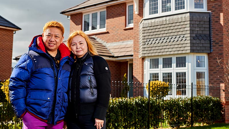Mr and Mrs Lo at home at Taylor's Chase